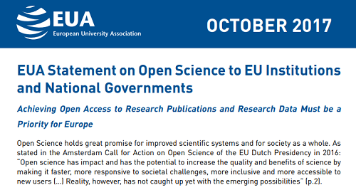 Declaración sobre Open Science de EUA