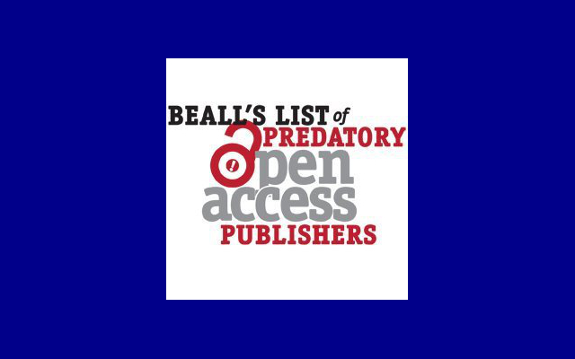 Lista beall de revistas deredadoras